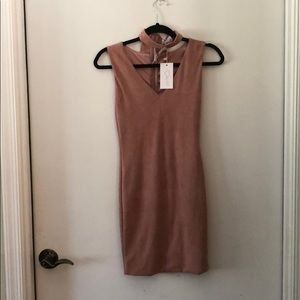LF suede chocker dress